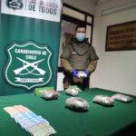 Carabineros del OS-7 decomisa más de $42 millones en cocaína y marihuana en Lautaro