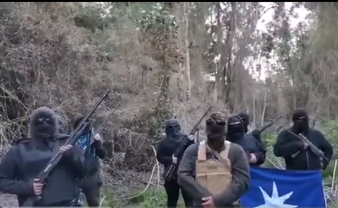 grupo armado en Collipulli